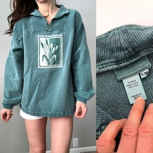Vintage oversized garment dyed pullover